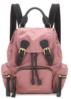 Burberry The Small leather-trimmed backpack