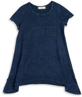 Soprano Girls 7-16 Asymmetric Pocket Tee