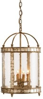 The Well Appointed House Harlow Silver Leaf Lantern Small