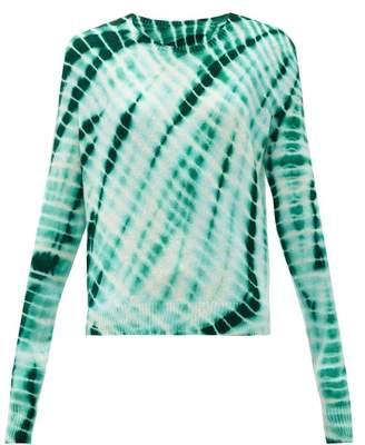 The Elder Statesman Tie-dyed Cashmere Sweater - Womens - Green