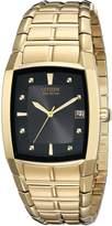 Citizen Men's BM6552-52E Eco-Drive Gold-Tone Black Dial Watch