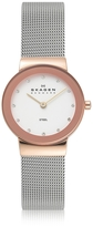 Skagen Freja Two Tone Stainless Steel Mesh Bracelet Women's Watch
