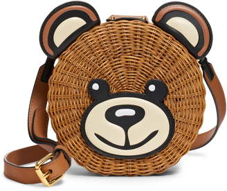 Moschino Straw Teddy Crossbody Bag