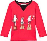 Sonia Rykiel Red Glitter Cat Print Tee