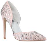 Carvela Grade Pointed Toe Embellished Court Shoes, Nude