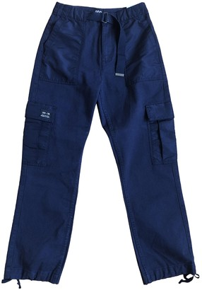 Urban Outfitters Navy Cotton Trousers for Women