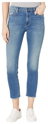 Hudson Jeans Nico Mid-Rise Skinny with Raw Hem in Righteous (Righteous) Women's Jeans