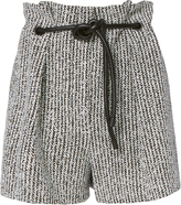 3.1 Phillip Lim Origami Pleated Bouclé Shorts Black/White 2