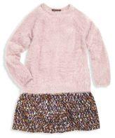 Imoga Toddler's, Little Girl's & Girl's Scarlet Mixed Media Sweater Dress