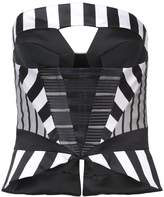 Rubin Singer striped cut-out corset