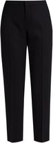 Chloé Slim-leg wool-blend cropped trousers