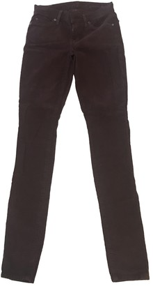 7 For All Mankind Burgundy Cotton - elasthane Jeans for Women