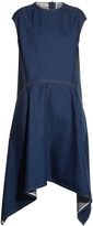 Balenciaga Cut-out back-hem denim dress