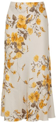 Bec & Bridge Matilde floral-print satin midi skirt