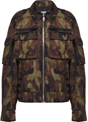 Prada camouflage-print gabardine jacket