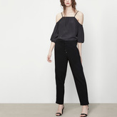 Maje Canvas trousers with side bands