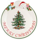 """Spode Christmas Tree 12-Inch """"Merry Christmas"""" Puppy Platter"""