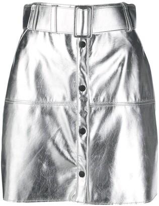 MSGM metallic pencil mini skirt