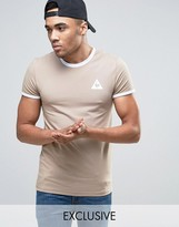 Le Coq Sportif Ringer T-shirt In Beige Exclusive To Asos 1622163