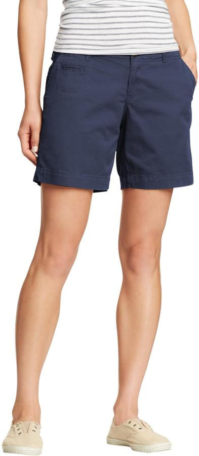 "Old Navy Women's Perfect Khaki Shorts (7"")"