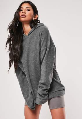 Missguided Petite Grey Fleece Hoodie