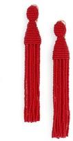 Oscar de la Renta Women's Long Tassel Drop Clip Earrings