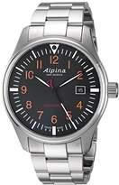Alpina Men's 'Startimer' Swiss Quartz Stainless Steel Casual Watch, Color:Silver-Toned (Model: AL-240N4S6B)