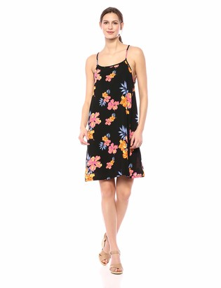 28 Palms Women's Tropical Hawaiian Print Spaghetti Strap Shift Dress