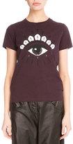Kenzo Light Single Jersey Eye T-Shirt, Maroon/Pearl
