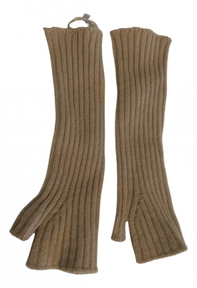 Stefanel Beige Wool Gloves