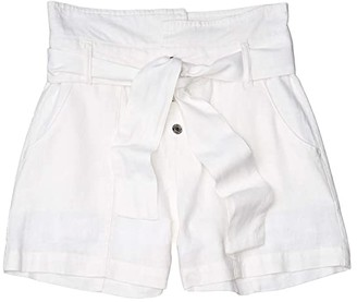 Habitual Sloane High-Waist Shorts (Big Kids) (White) Girl's Shorts