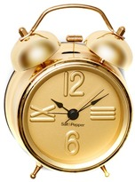 Salt&Pepper Small Gold Zone Alarm Bell Clock