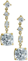 Giani Bernini Multi-Crystal Linear Drop Earrings in 18k Gold-Plated Sterling Silver, Created for Macy's