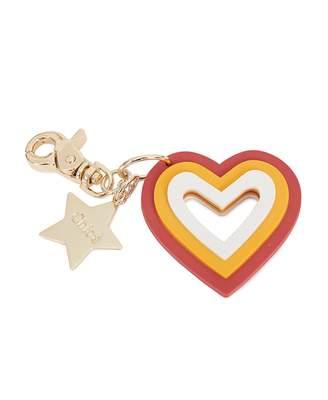 Chloé Childrenswear Metal Heart Logo Keyring Colour: PAPRIKA, Size: On