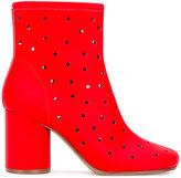 Maison Margiela Socks perforated ankle boots - women - Leather - 35