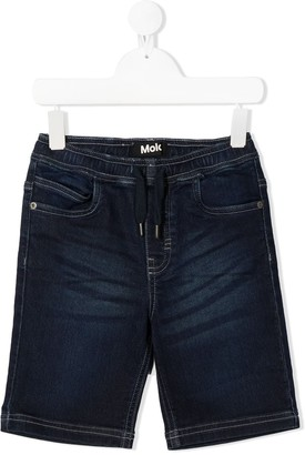 Molo Drawstring Waist Denim Shorts
