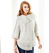Deshabille NEW Delilah poncho in oatmeal Women's
