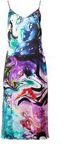 Matthew Williamson Marble Satin Slip Dress