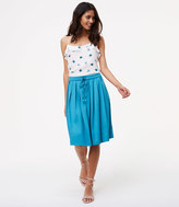 LOFT Pleated Drawstring Skirt