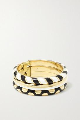 Alice Cicolini 14-karat Gold And Enamel Ring