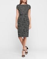 Express Jacquard Belted Seamed Sheath Dress