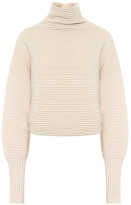 Victoria Victoria Beckham Ribbed-knit wool turtleneck sweater