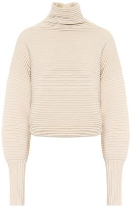 Victoria Victoria Beckham Ribbed-knit wool turtleneck sweater