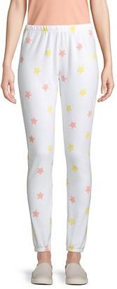 Wildfox Couture Star-Print Fleece Jogging Pants