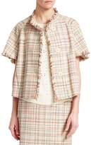 Akris Punto Short Sleeve Tweed Jacket