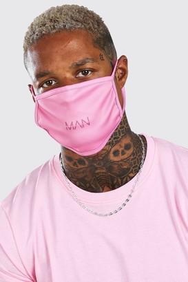 boohoo Mens Pink MAN Dash Fashion Mask, Pink