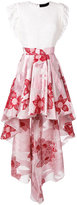 Christian Pellizzari floral high-low hem skirt - women - Silk/Nylon/Polyamide/Metallized Polyamide - 40