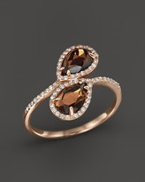 Bloomingdale's Smokey Topaz and Diamond Ring in 14K Rose Gold