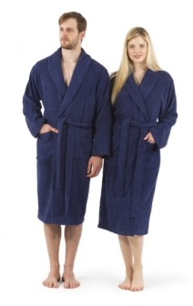 Linum Home Unisex 100% Turkish Cotton Terry Bath Robe Bedding