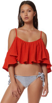 Mara Hoffman Off The Shoulder Cropped Tank